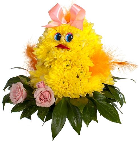 Как сделать цыпленка из живых цветов своими руками 91
